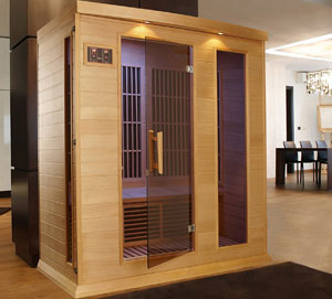 DYNAMIC SAUNAS AMZ-MX-K306-01 Maxxus Marseille 3-Person Far Infrared Sauna