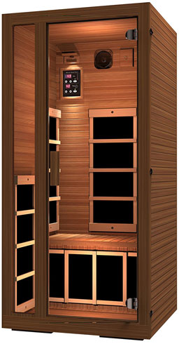 JNH Lifestyles Freedom 1 Person Canadian Western Red Cedar Wood Far Infrared Sauna