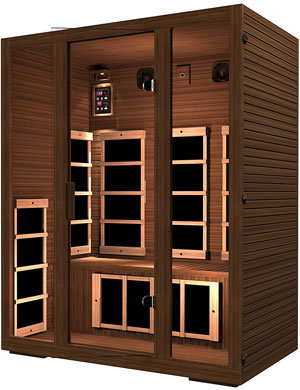 JNH Lifestyles Freedom 3 Person Canadian Western Red Cedar Wood Far Infrared Sauna