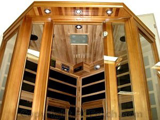 Canadian Red Cedar FIR Infrared Carbon Fiber Corner Sauna