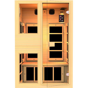JNH Lifestyles ENSI Collection 2 Person NO EMF Infrared Sauna