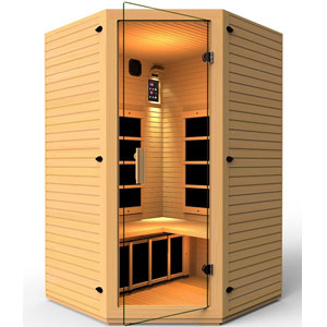 JNH Lifestyles 2-3 Person Corner Far Infrared Sauna