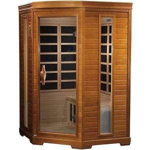 DYNAMIC SAUNAS Bilbao 2-Person Corner Far Infrared Sauna